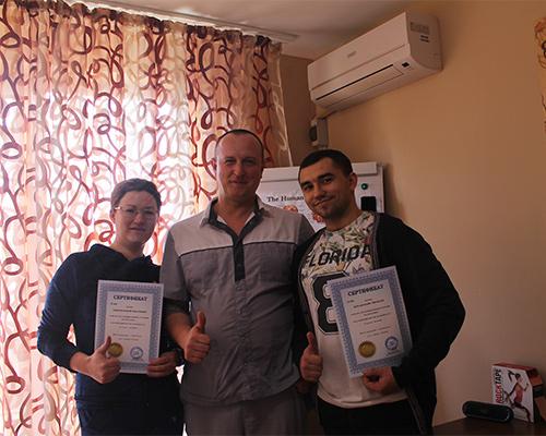 Выпускники курсов массажа
